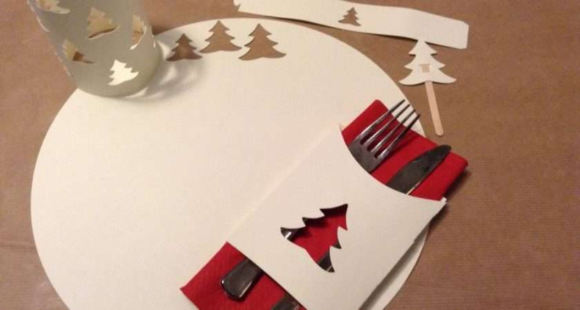 Christmas Table Set Ideastars Pinterest