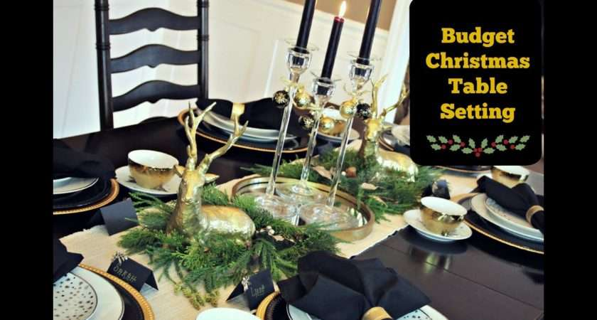 Christmas Table Setting Budget Youtube
