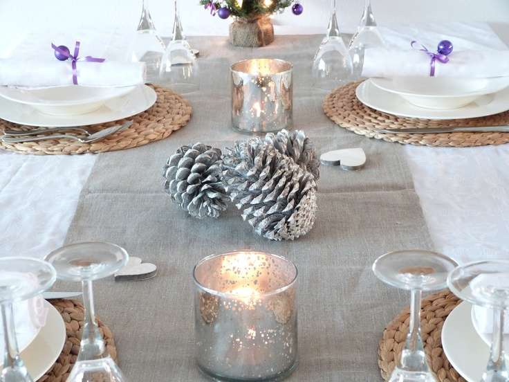 Christmas Table Silver