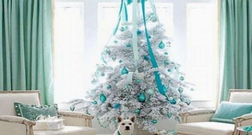 Christmas Tree Decorations Blue Decor Ideas Marvelous White