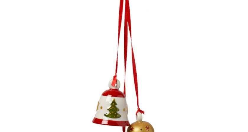 Christmas Tree Trio Bells Ornaments