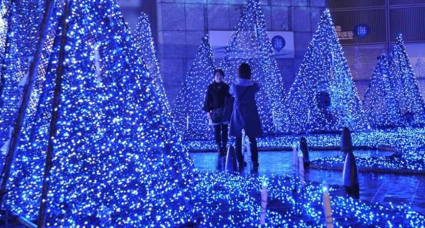 Christmas Trees Lights Cities Around World Telegraph