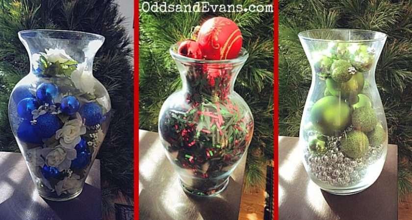 Christmas Vases Diy Decorations Holidays Odds