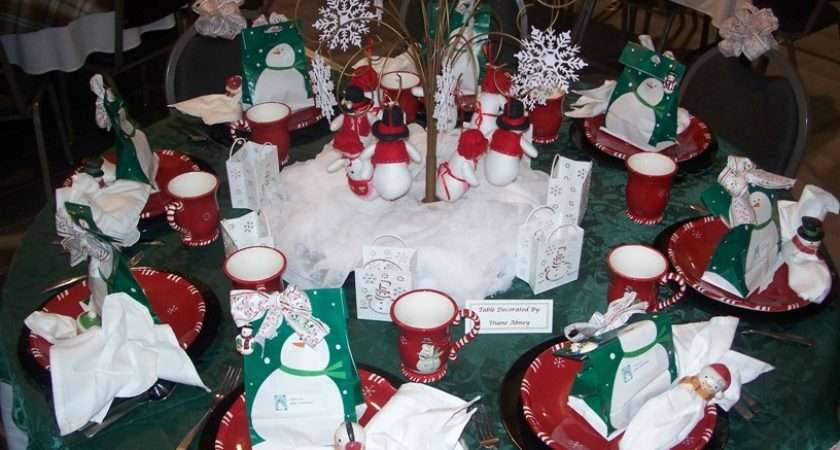 Christmas Winter Table Decorating Design Ideas Party