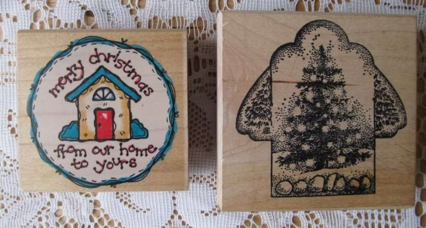 Christmas Wood Rubber Stamps Penny Black Too Much Fun Xmas Tree
