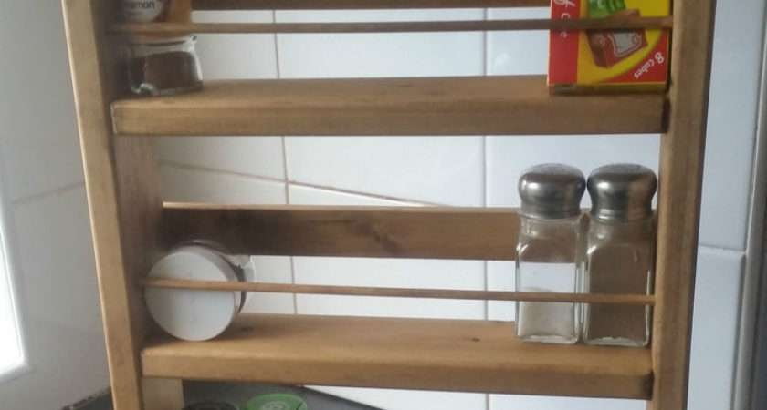 Chunky Wooden Spice Rack Fittings Hand Crafted
