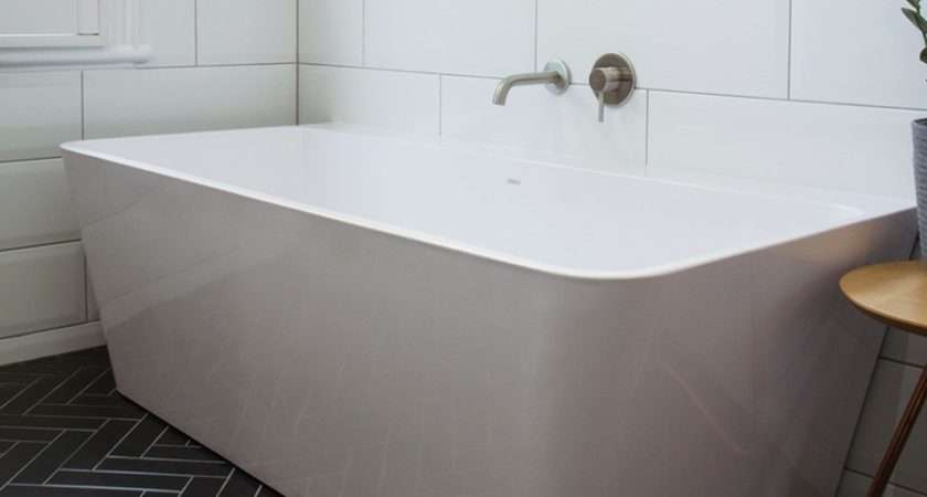 City Freestanding Back Wall Bath