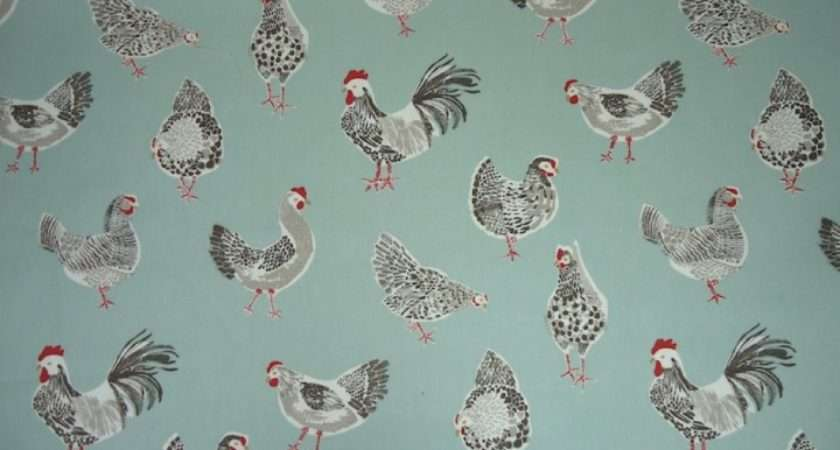 Clarke Rooster Duck Egg Cotton Curtain Fabric Recommend