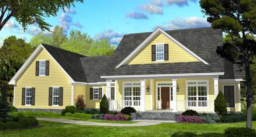Classic Country Style Home Plan Architectural