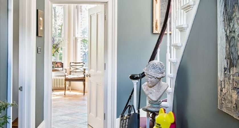 Classic Grey Hallway Quirky Accents Housetohome