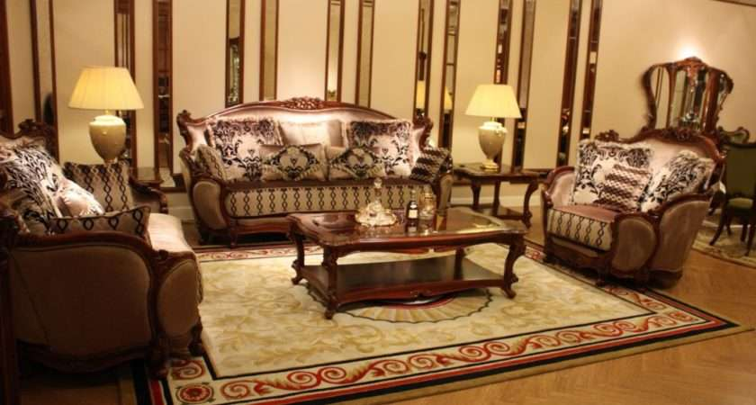Classic Italian Living Room Furniture Comes Brown