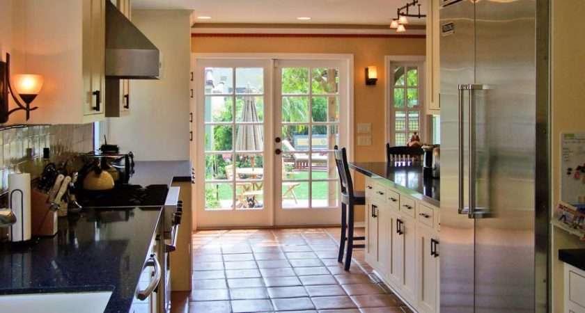 Classic Kitchen Spanish Tile Floor Sconces Designer Kitchens