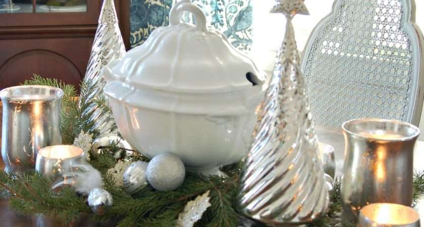 Classic Silver White Centerpiece Create Simple