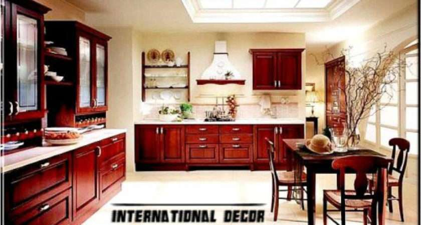 Classic Wood Kitchen Cabinets Designs Furniture