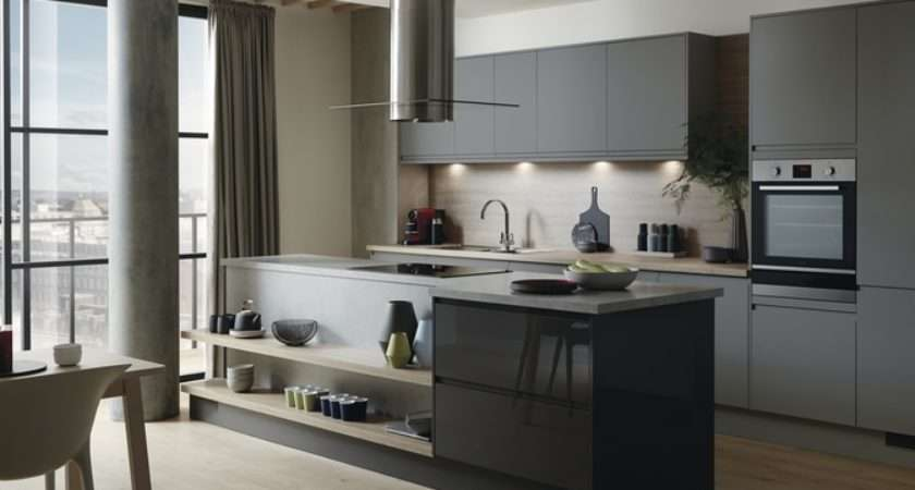 Clerkenwell Super Matt Slate Grey Kitchen Contemporary