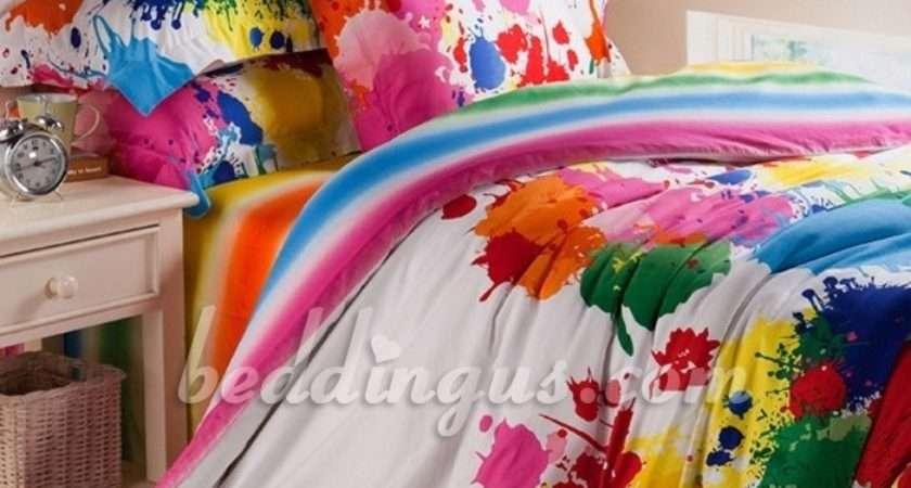 Clothes Decorating Pinterest Paint Splatter Bedding