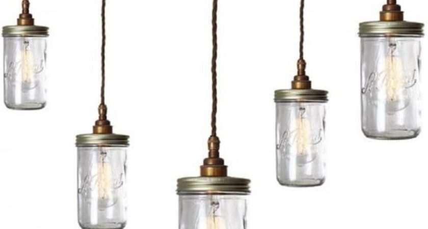 Cluster Jam Jar Ceiling Pendant Lights Hanging