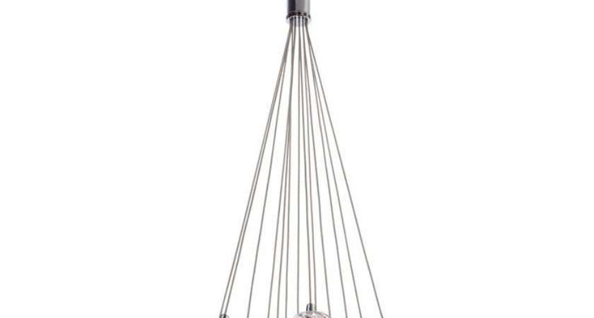 Cluster Pendant Chrome Moulded Clear Glass