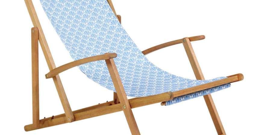 Coastal Deck Chair Seashell Pattern Buydirect
