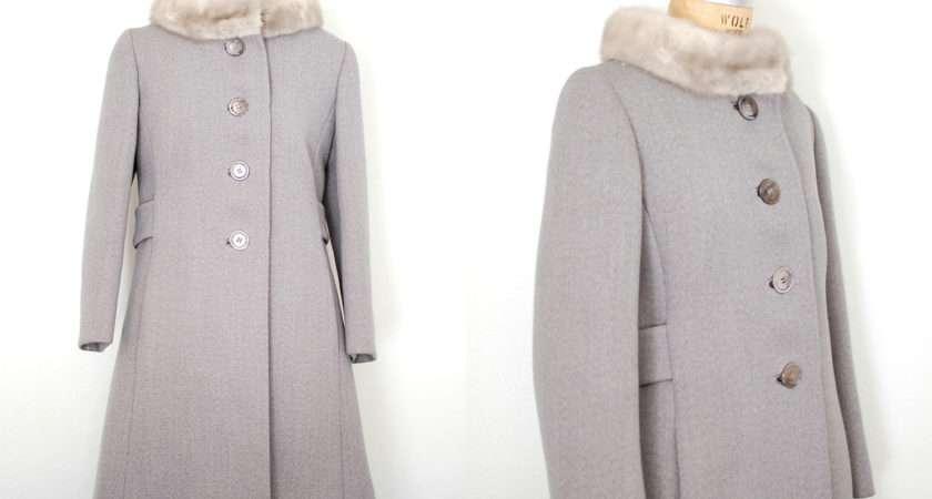 Coat Grey Wool Gray Fur Silver Mink