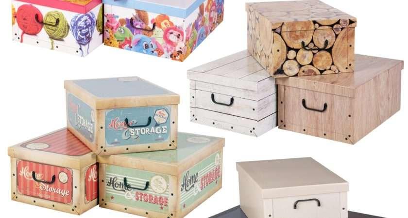 Collapsible Underbed Cardboard Storage Boxes Elegant