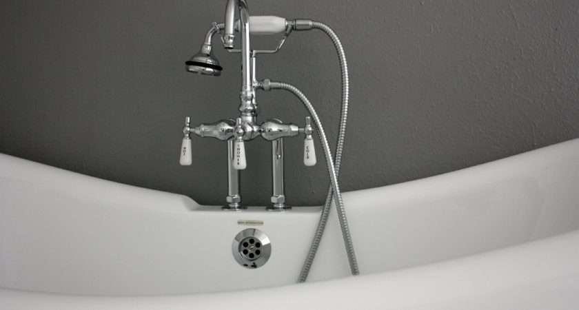 Collection Double Slipper Tub Includes Faucet Drain Supply Lines