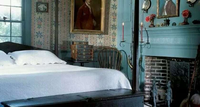 Colonial Blue Bedroom Interiors Pinterest