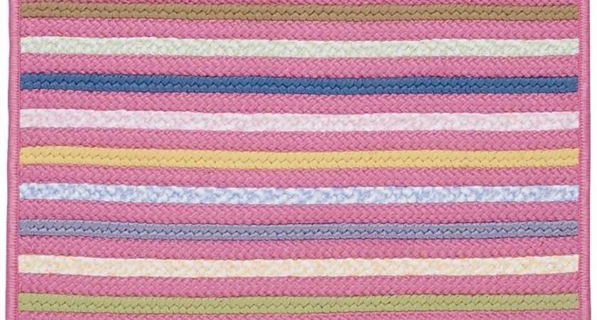 Colonial Mills Bright Stripe Braided Area Rug Collection
