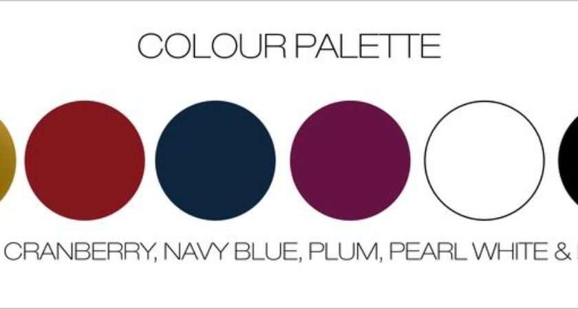 Color Palettes Schemes Black Blue Plum Wedding Colors