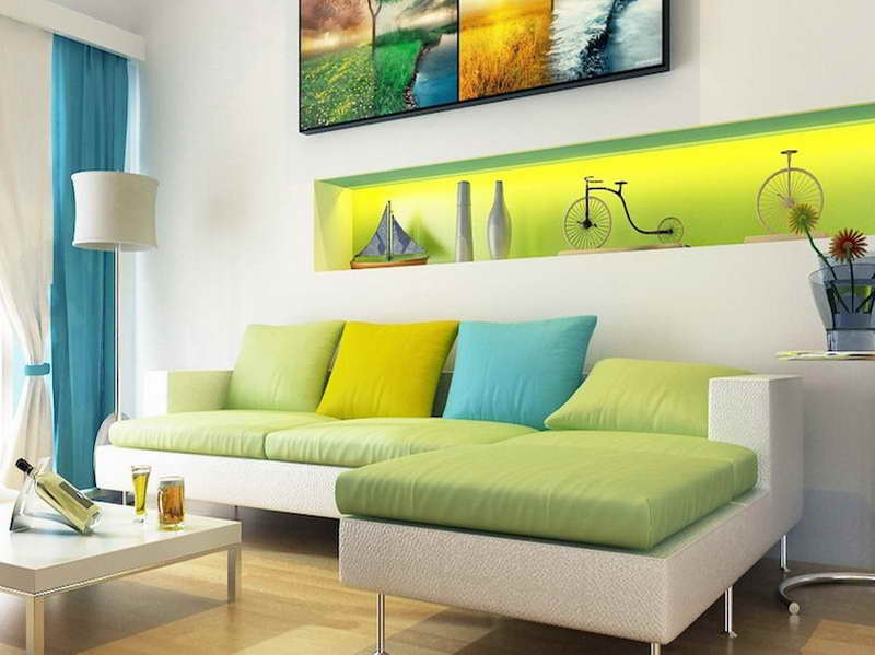 Color Scheme Room Analogous Green Light