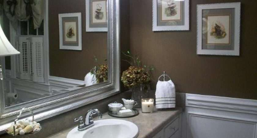 Color Small Bathroom Wall Mirror Paint