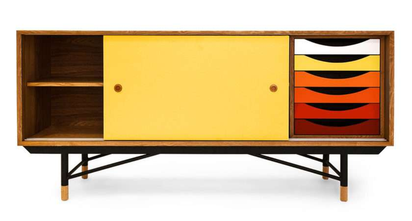 Color Theory Mid Century Modern Sideboard Credenza