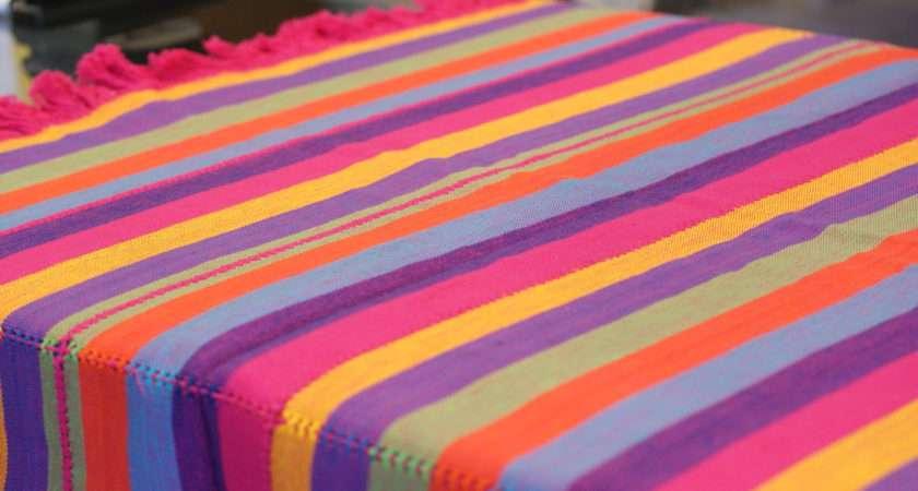 Colorful Cotton Tablecloths Napkins Patzcuaro Zinnia Folk