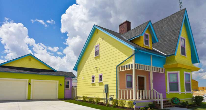 Colorful Disney House Real Built
