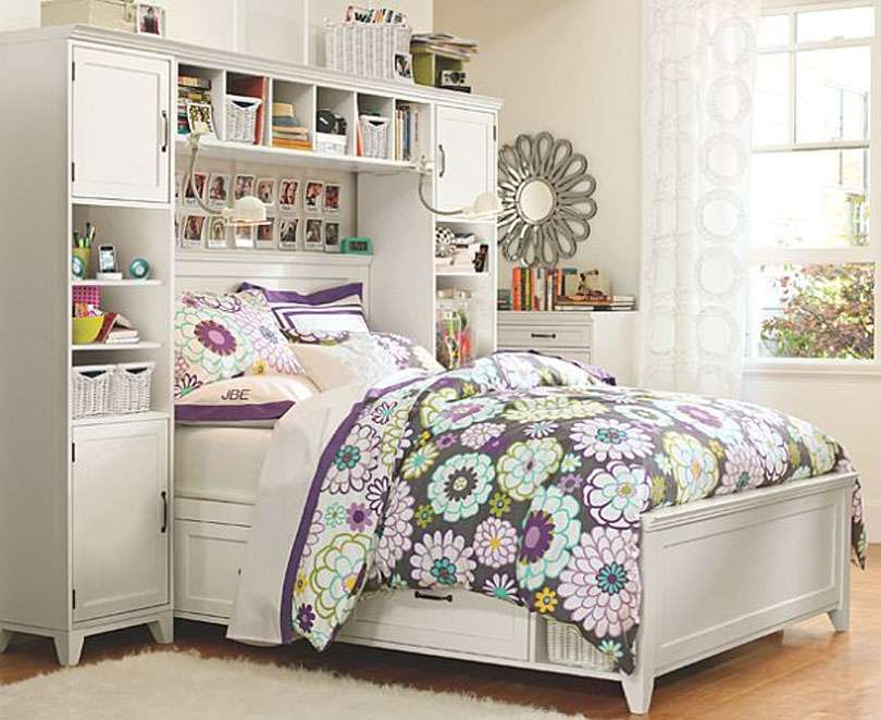 Colorful Female Bedroom Charming Floral Theme Furniture Home