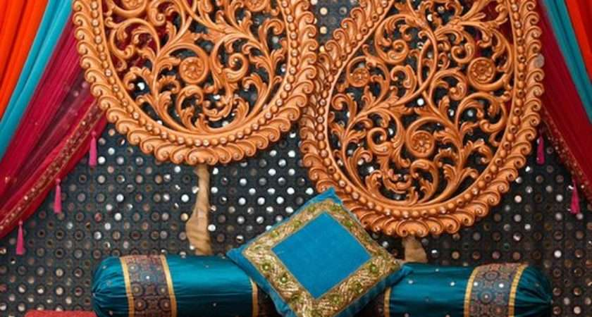 Colorful Traditional Look Indian Wedding Stage Cor Ideas