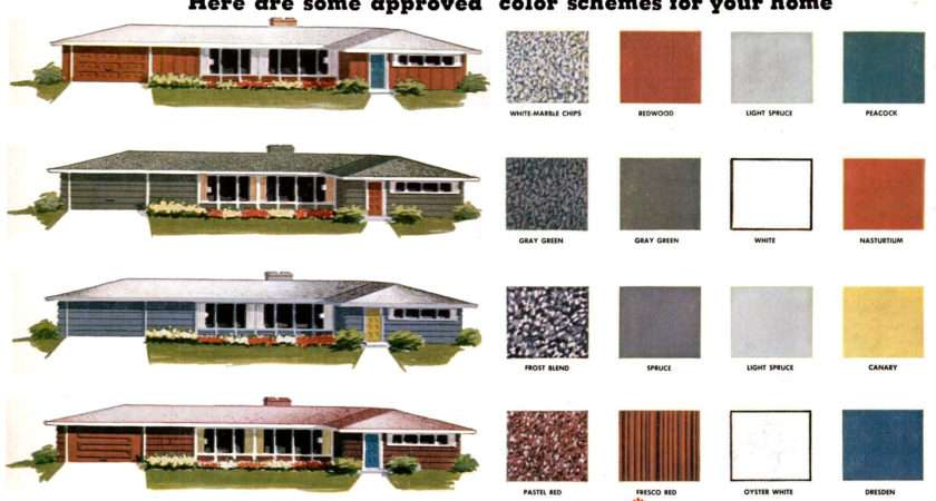 Colors Ranch Homes These Approved Mid Century Paint Color Schemes