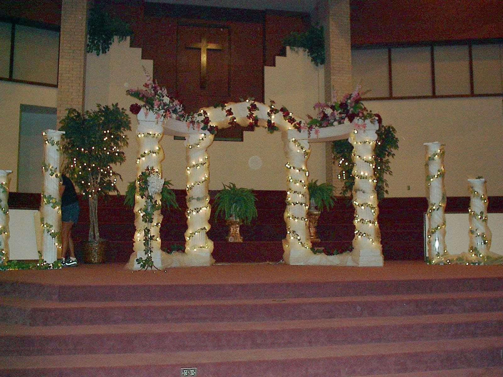 Columns Wedding Decorations Romantic Decoration - Lentine Marine ...