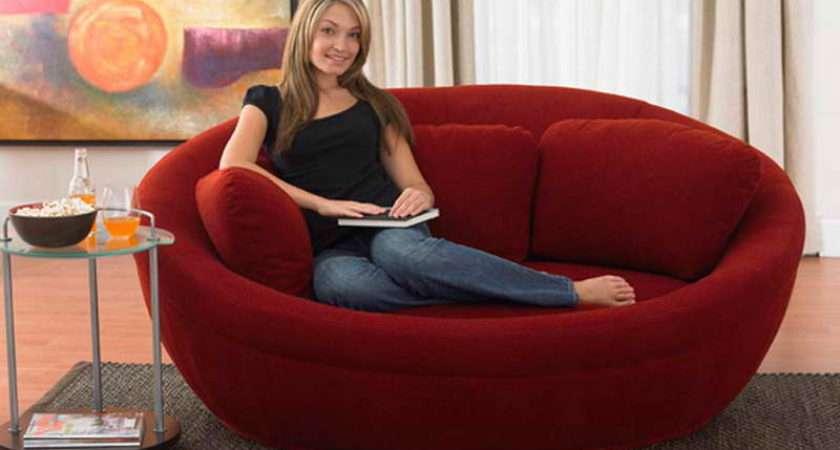 Comfortable Red Modern Style Mini Sofa Artistic Design Ideas Mycyfi