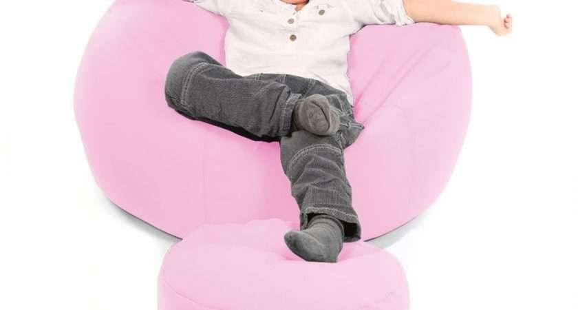 Comfy Toddler Armchair Pink Beanbag Chair Kids Bean Bag
