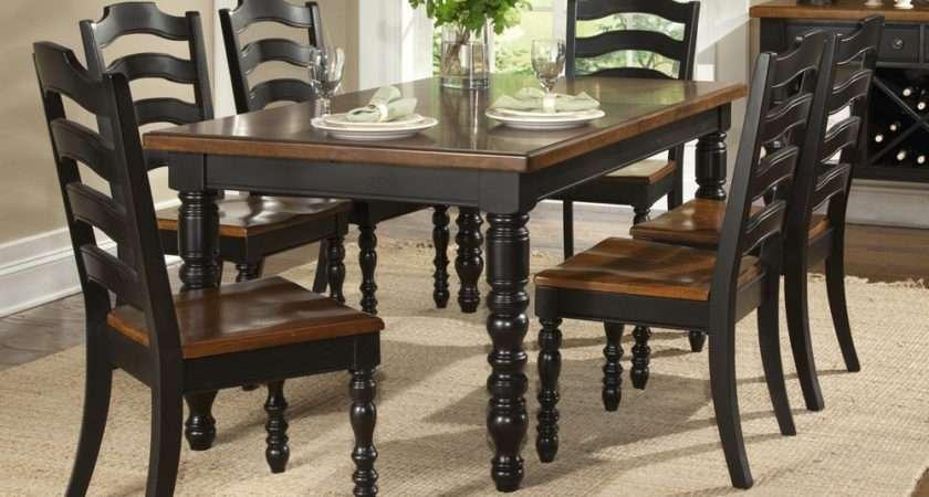 Concord Black Piece Leg Table Dining Room Set Sale