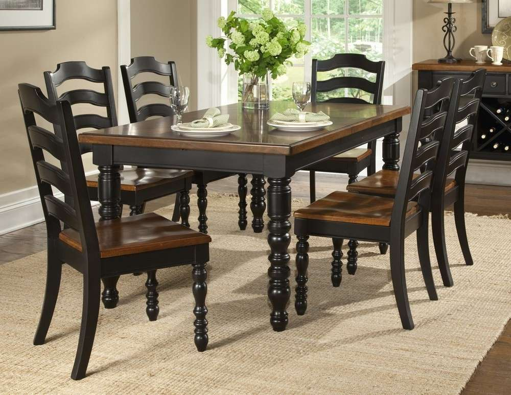 Concord Black Piece Leg Table Dining Room Set Sale