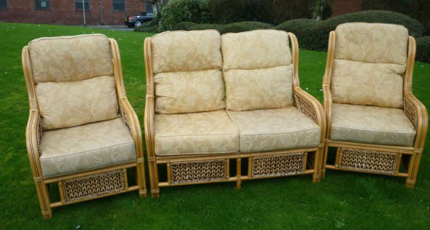 Conservatory Furniture Set Bamboo Piece Suite Settee