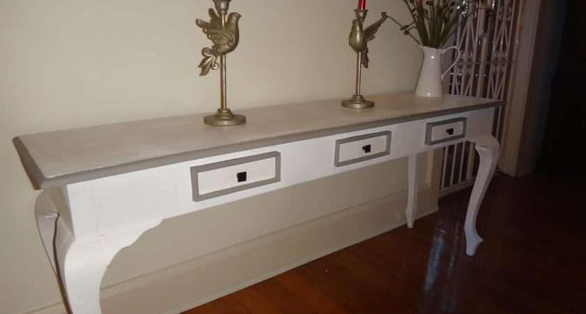 Console Table Drawers Shabby Chook Vintage Furniture
