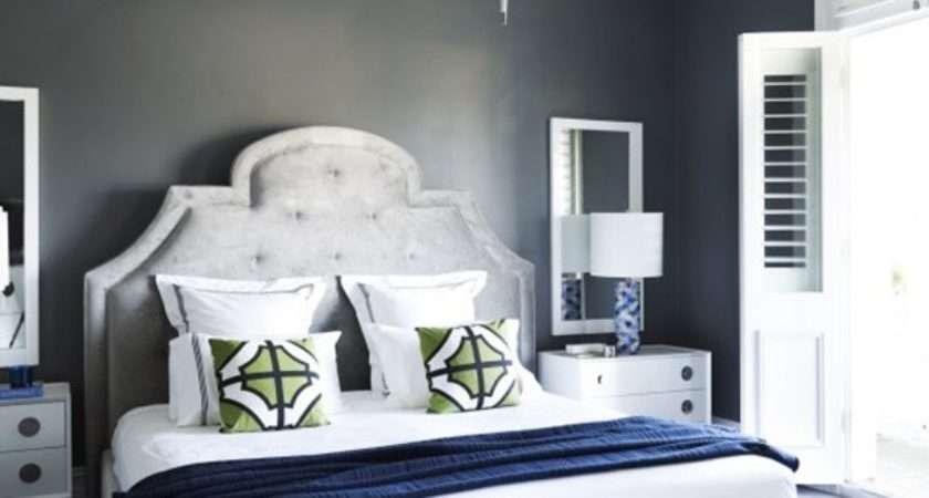 Contemporary Blue Bedroom Decorating Ideas Grey