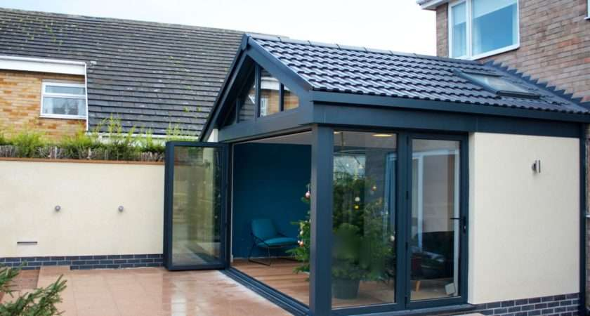 Contemporary Garden Room Bifold Open