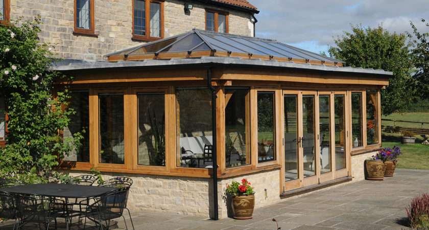 Contemporary Oak Orangery Somerset David Salisbury