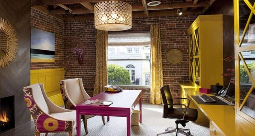 Contemporary Office Interior Design Yellow