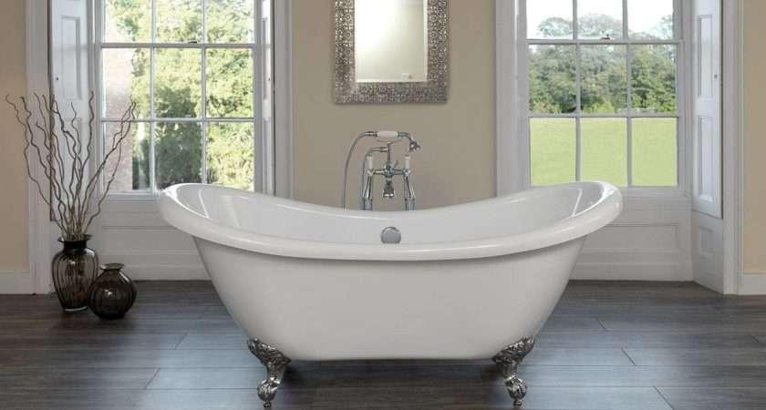 Contemporary Slipper Bath Roll Top Bathroom