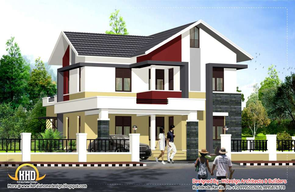 Contemporary Style Home Kerala Design Floor